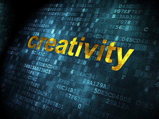 Advertising concept: Creativity on digital background