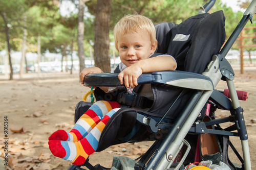 Little child in stroller