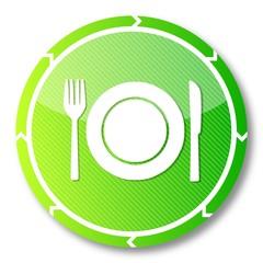 sustainable restaurant symbol