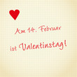 am 14 februar ist valentinstag