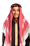 Young smiling arab isolated on white