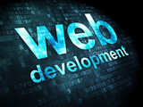 SEO web development concept: Web Development on digital