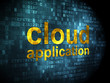 Cloud networking concept: Cloud Application on digital