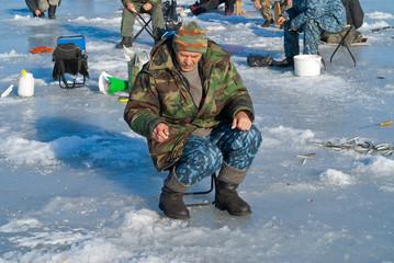 Man on winter fishing 51