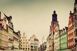 Fototapeta Wroclaw, Poland in Silesia region. The market square