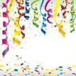 Geburtstags- und Faschingshintergrund