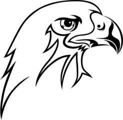 Eagle face art vector design