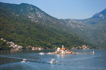 Our Lady of the Rocks. Island in Kotor Bay