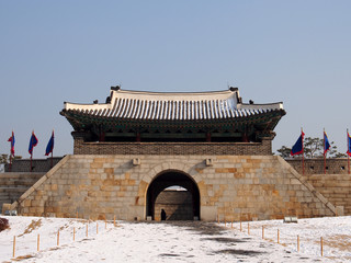 Changnyongmun of Hwaseong Fortress in Suwon, South Korea