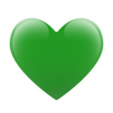 Green vector heart