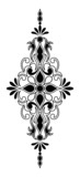 Vertical and symmetrical decorative ornament