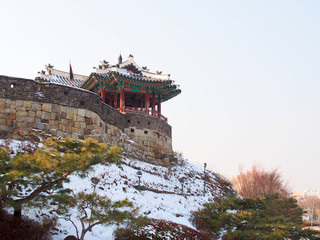 Dongbuk Gangnu of Hwaseong Fortress in Suwon, South Korea