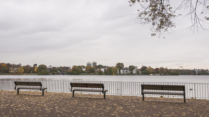 Hamburg, Aussenalster, Hansestadt, Park, Alsterpark, Deutschland