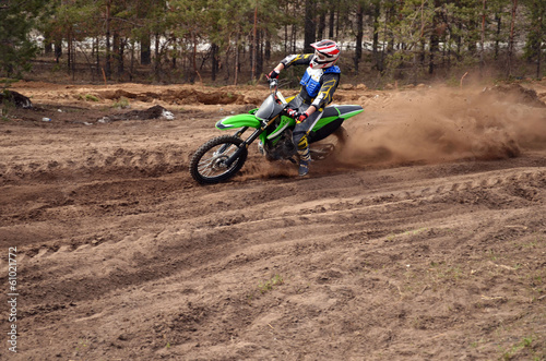 MX rider turns point-blank of sand