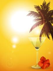 Summer cocktail background portrait