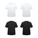 T-shirts in white and black