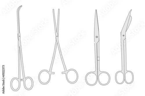 cartoon image of medical tools