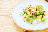light salad with avocado and feta