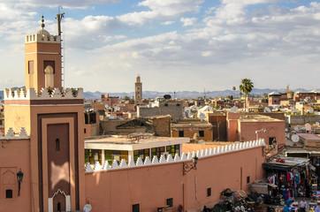 Ueber den Daechern von Marrakesch, Marokko