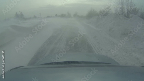 Driving through a Deep Snowdrift