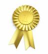 Number one , Golden Award Ribbon