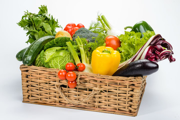 Verdure nel cesto