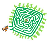 Squirrel And Nut Maze Game