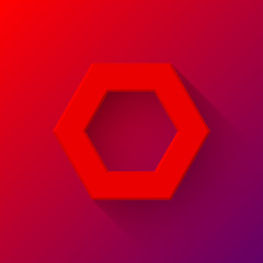 Red Abstract Polygon Sign