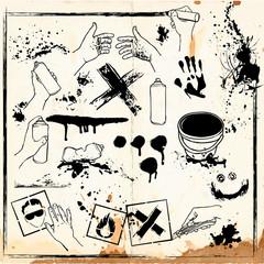 Grunge design elements collection