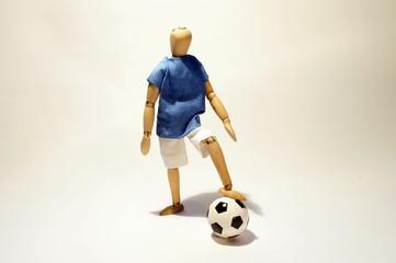 Calciatore con pallone