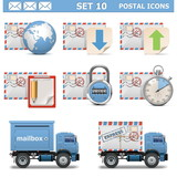 Vector Postal Icons Set 10