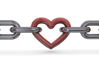 CHAIN HEART - 3D