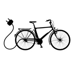 E-Bike Vektor Silhouette