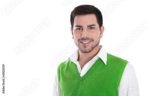 Gesicht: Business Mann lachend und erfolgreich