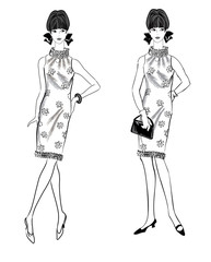 Fashion dressed woman (1950's 1960's style) Retro girl