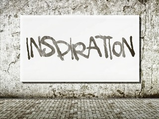 Inspiration street art, words on wall