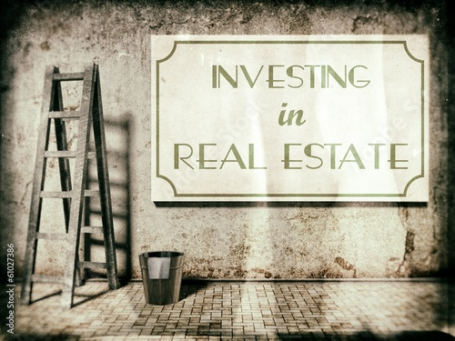 Investing in real estate on wall