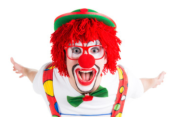 clown grinst in die kamera