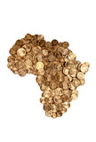 Coins Arrangement in The Shape Of Africa