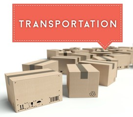 Transportation cardboard boxes ready for shipment