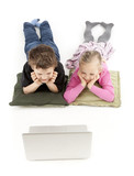 Children watching the Laptop