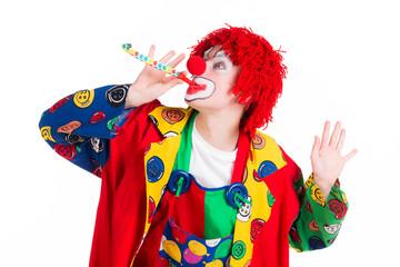 clown mit tröte