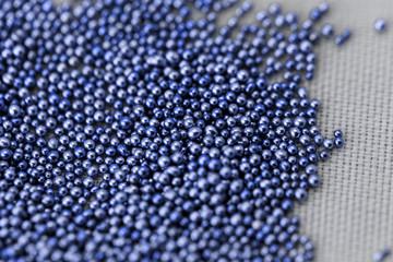 Pile blue balls