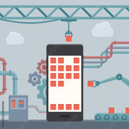Mobile phone construction concept