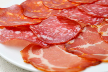 assorted embutidos, spanish cold cuts