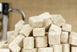 Pile of sugar cubes