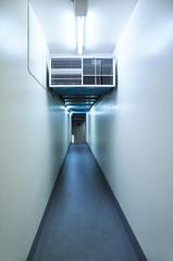 Narrow corridor inside building