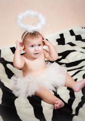 Adorable little angelic gir