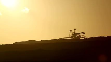 Schaufelradbagger, Braunkohle Tagebau