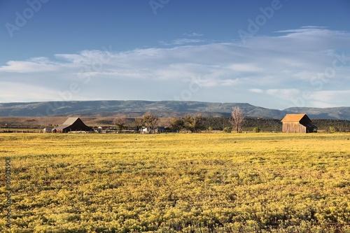 Colorado countryside view in San Miguel county